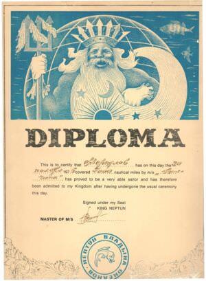 022. 1975-11-20. Диплом «Балтики». День Нептуна.