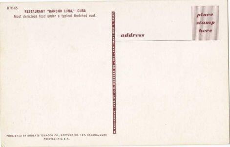 275. Тип RTC, номер 065, обратная сторона