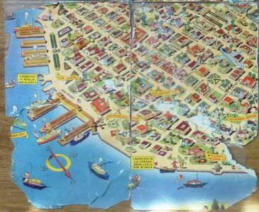 399. Карта Гавана, 1952 год, отпечатана в США, 2 квадрат