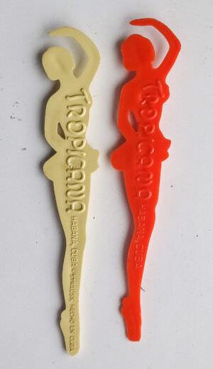 1967-1969. Коктейльные палочки из кабаре «Тропикана», тыльная часть