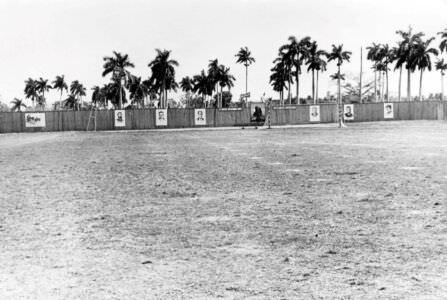 Стадион в бригаде, Нарокко. Левая часть. 50-летие Октябрьской революции.