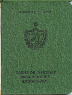 Удостоверение личности для детей-иностранцев. Титул.