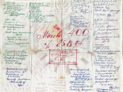 1976. Дембельский платок с адресами. 2 сторона