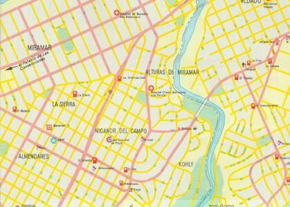 171. Район Коли на карте Гаваны 1987 года