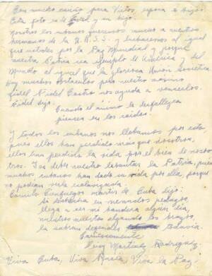36. Письмо Шарапову Виктору Фроловичу от кубинца М. Родригеса.