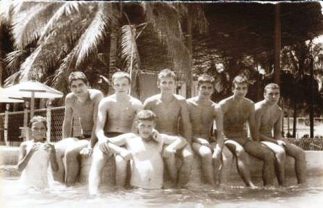 307. 1985-1986. Бассейн в  «Чайке», фото 6