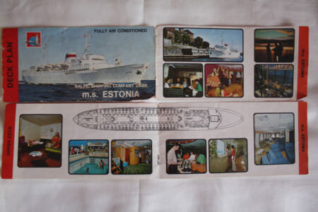 1983-11-ХХ. Буклет теплохода «Эстония».