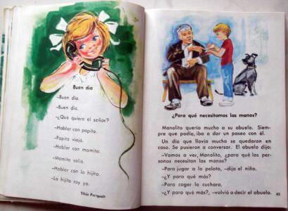 Кубинский учебник по чтению для 1 класса. Стр. 42-43