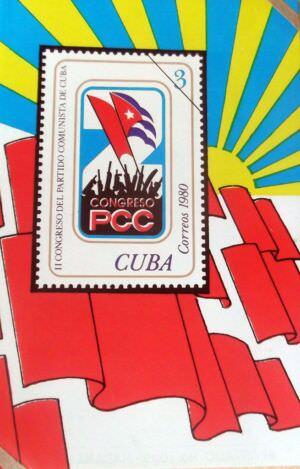 Календарик на 1981 год - Второй съезд коммунистической партии Кубы в 1980 году