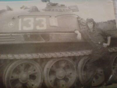 1975-1976. Экипаж танка Т-55 №-133