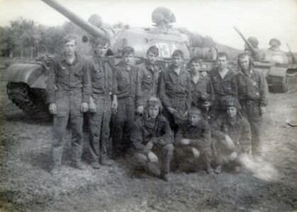 1977. 3-я танковая рота.