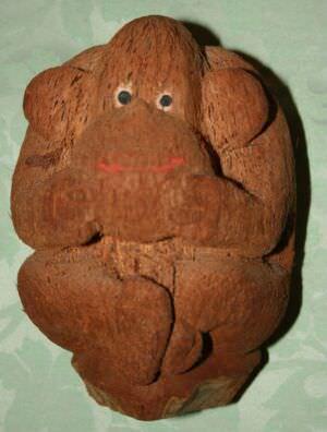 Обезьянка из кокоса, вид 1