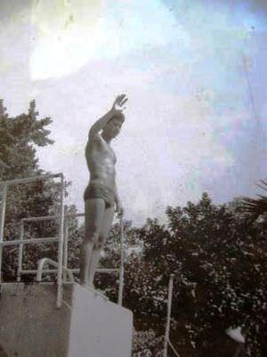 348. 1988. Около бассейна