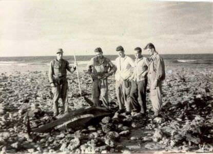 34. «Военный совет» около выброшенной на берег косатки.
