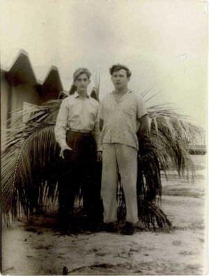 44. Провожаю Владимира Борисова в отпуск, июнь 1963 г.
