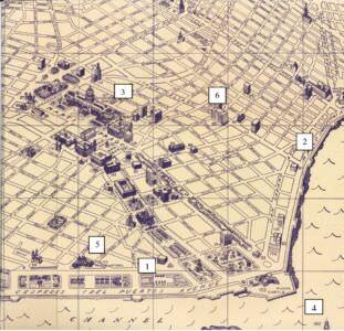 52. Карта – схема официального центра Гаваны.