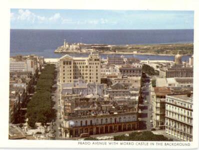 63. Гавана. Вид на бульвар Хосе Марти и морскую крепость. (Открытка, купленная в Гаване.)