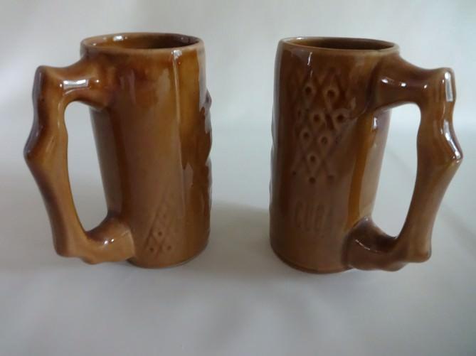 Пивные кружки из керамики. 80-е годы.