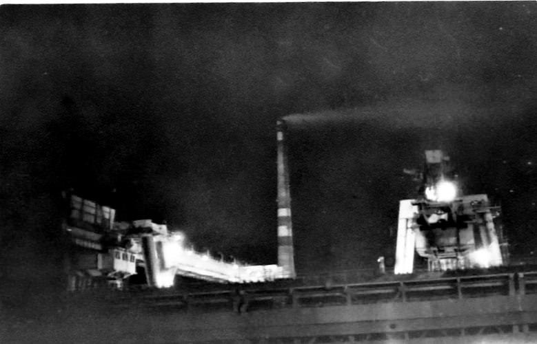 1985-1986. Завод Пунта Горда. Цех подготовки руды. Ночная смена.