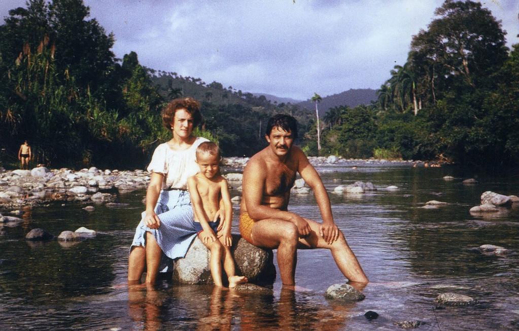 Баракоа. 1983-1985. На горной реке.