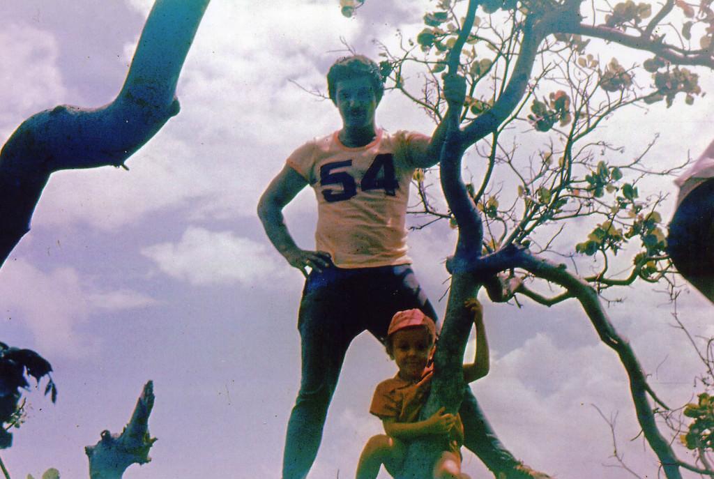 1983-1985. На берегу океана в Лас-Колорадас.