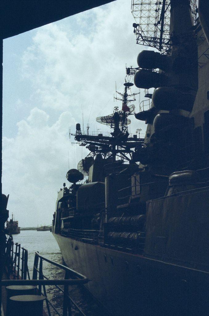 БПК «Азов», фото с борта гв. эск. миноносца «Гремящий»