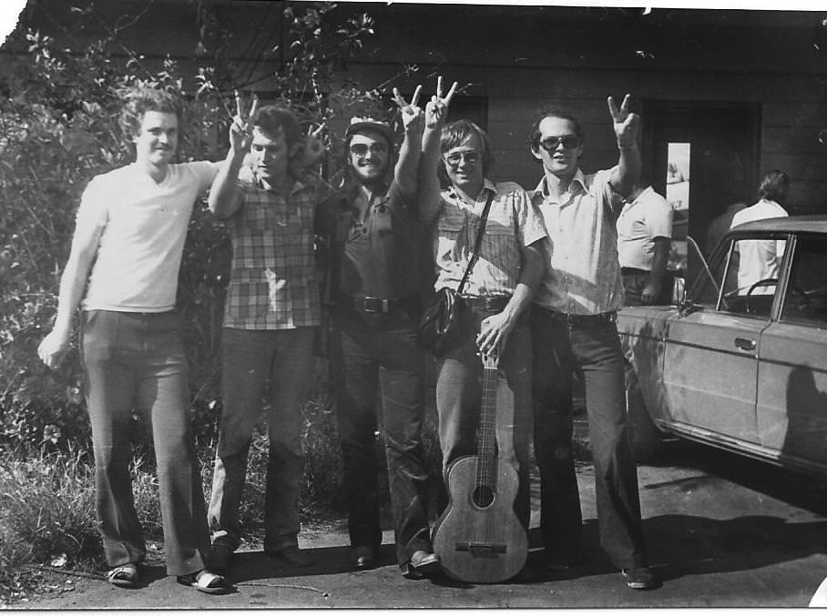1982-1984. Группа «Ралли». Фото 06. Группа «Ралли», поздняя осень 1982 года, фото 2.