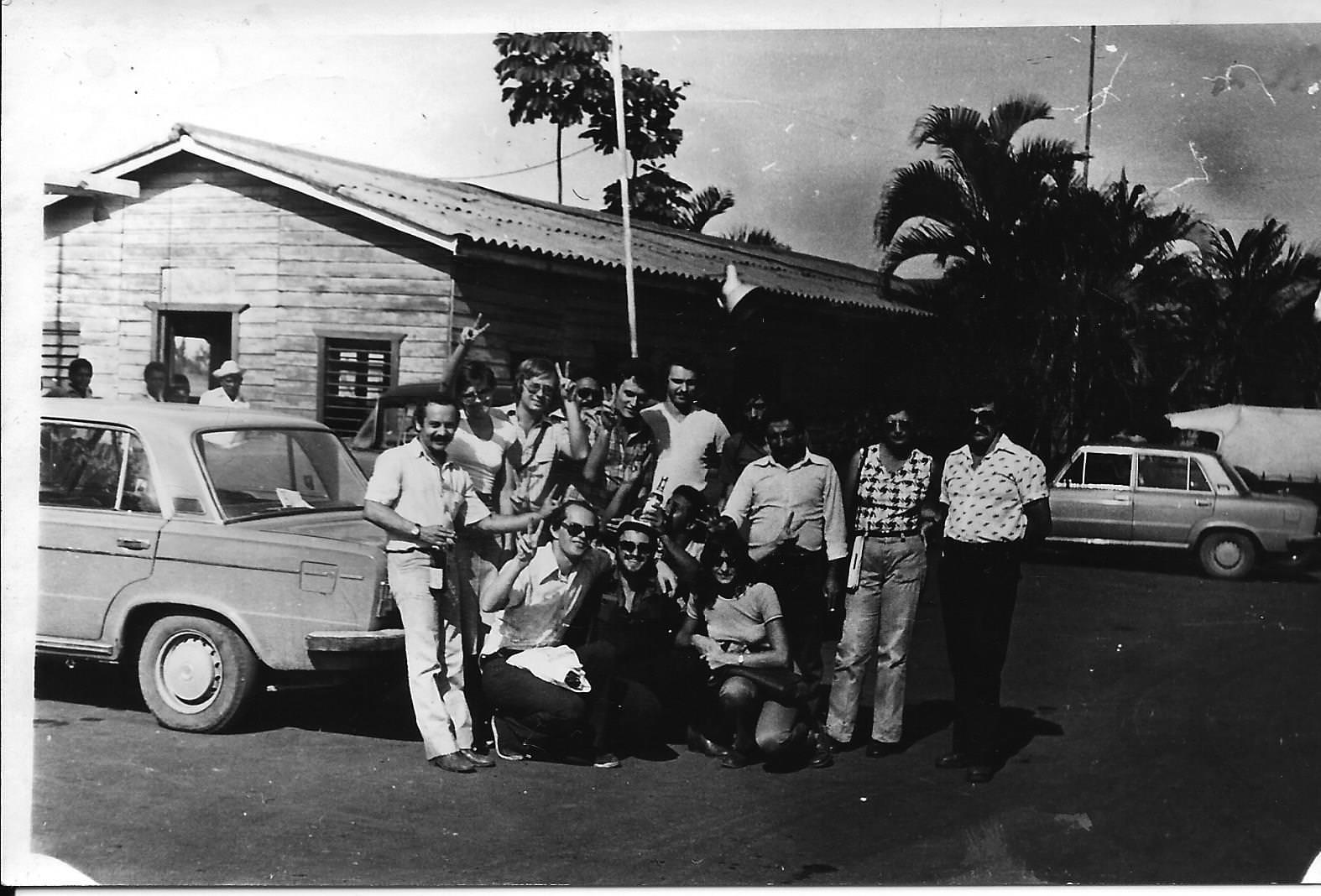 1982-1984. Группа «Ралли». Фото 07. Группа «Ралли» и все-все-все. 1982 год.