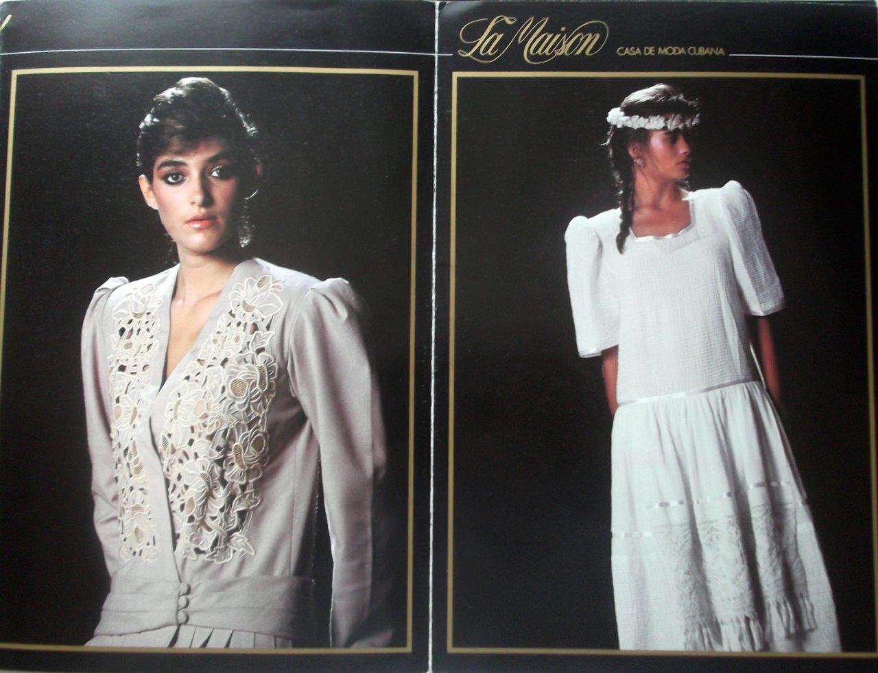 Журнал кубинского Дома моды. 80-е годы. Одна из страниц.