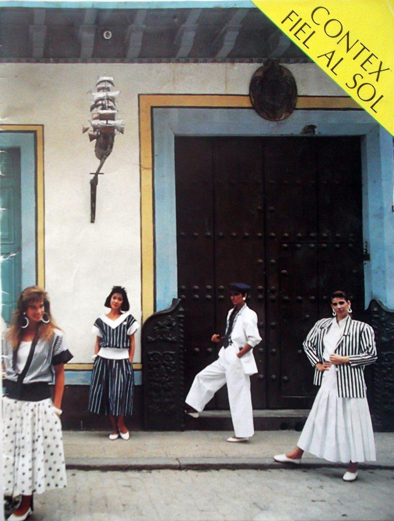 Кубинский журнал моды 1988 года. Одна из страниц.