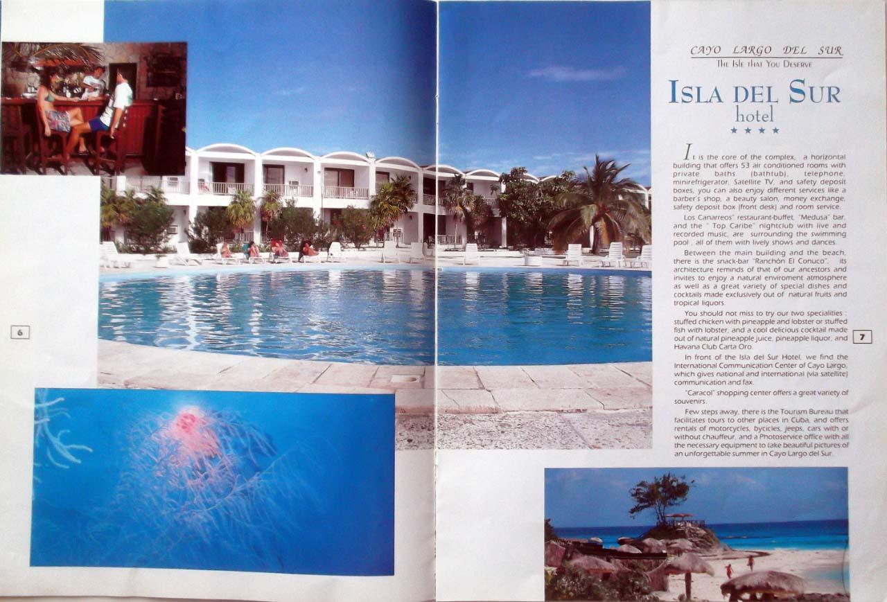 Рекламный туристический журнал. 80-е годы. Одна из страниц.