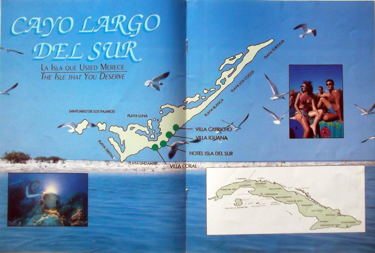 Рекламный туристический журнал. Одна из страниц.