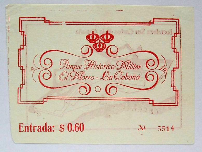 1988-1991. Билет в Эль-Морро. Оборот.