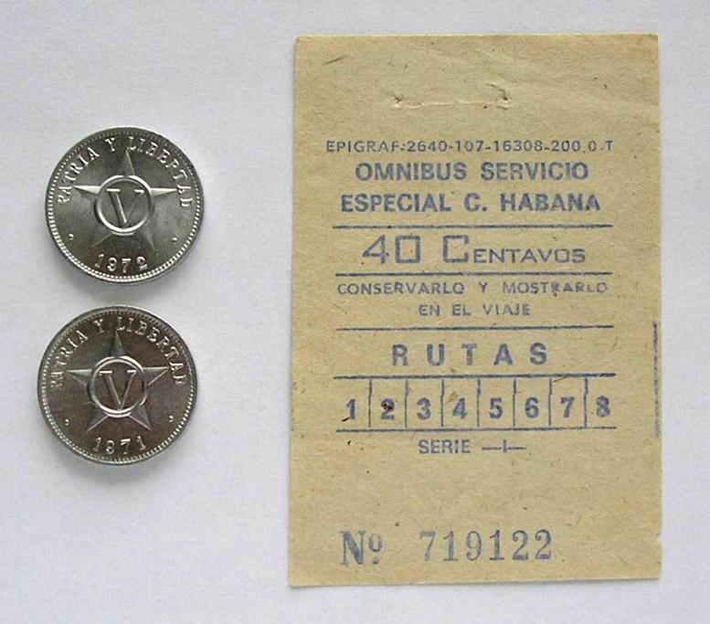 1988-1991. Билет на гаванский автобус «Экспресс»