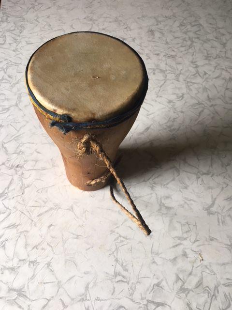 1965-1970. Барабан бата из дерева и воловьей кожи, фото 1