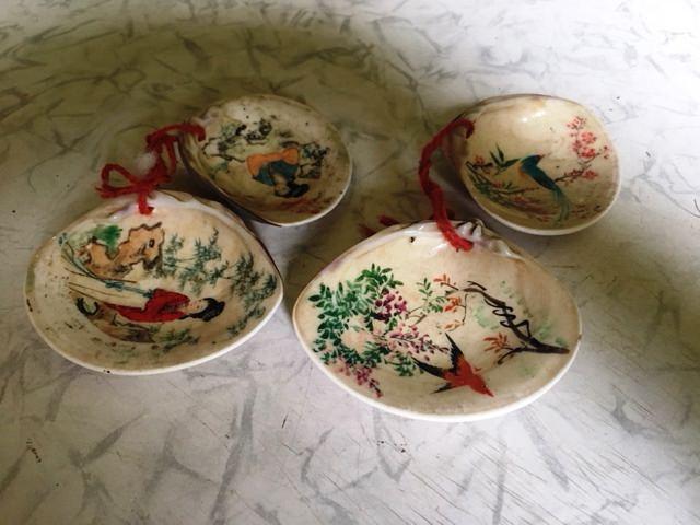 1965-1970. Китайский орнамент на ракушках, фото 2