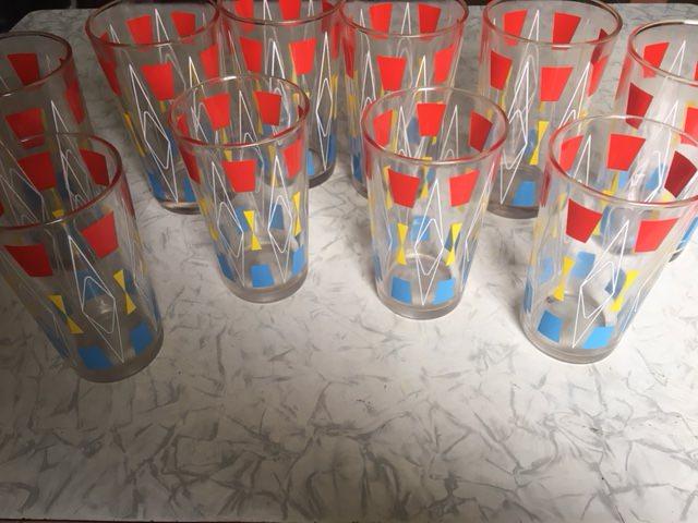 1965-1970. Набор цветных стаканов