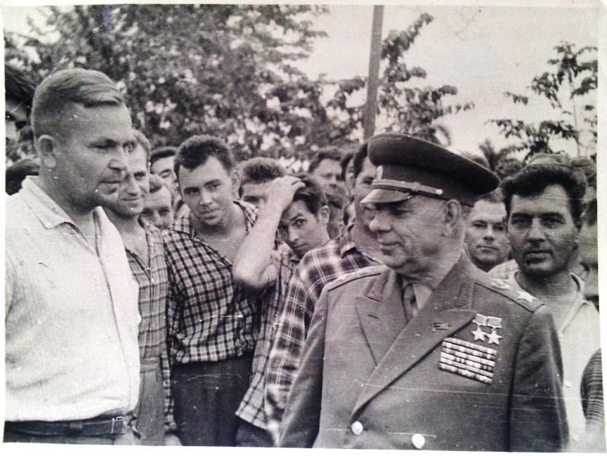 Приезд маршала Крылова Николая Ивановича, январь-февраль 1963
