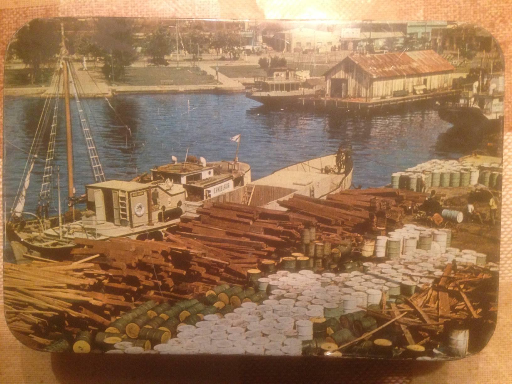 1965-1970. Коробка из-под печенья, верх